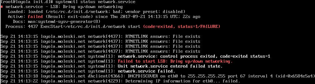 Server fails to start after Centos 7 update - mxnet